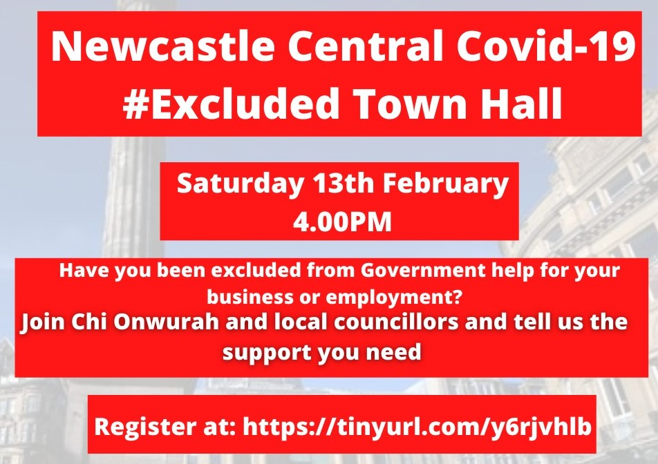 Newcastle Central Covid19 #Excluded Town Hall