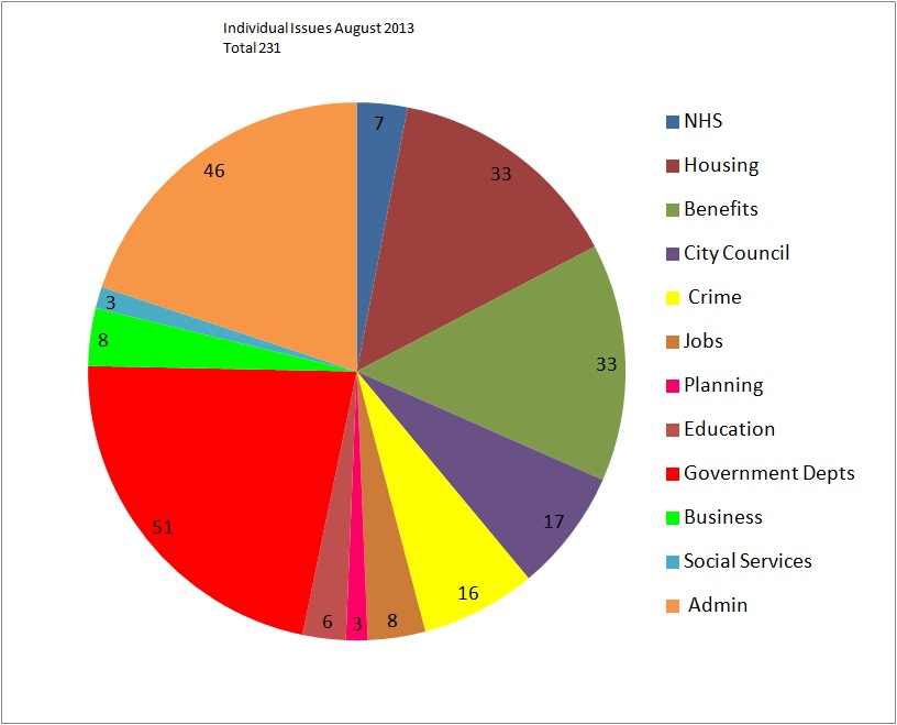 Individual Issues (totalling 231) August 2013