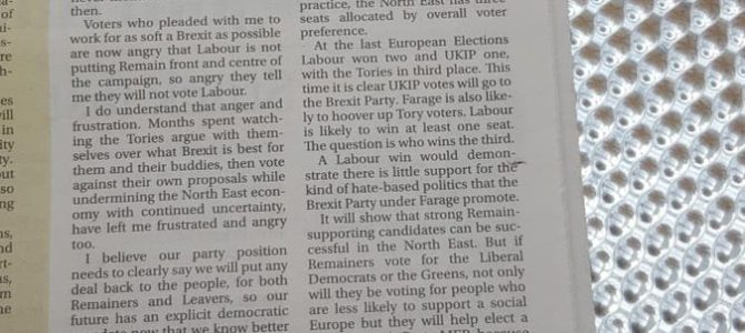 In the Journal today: Don't let Farage represent the North East #VoteLabour