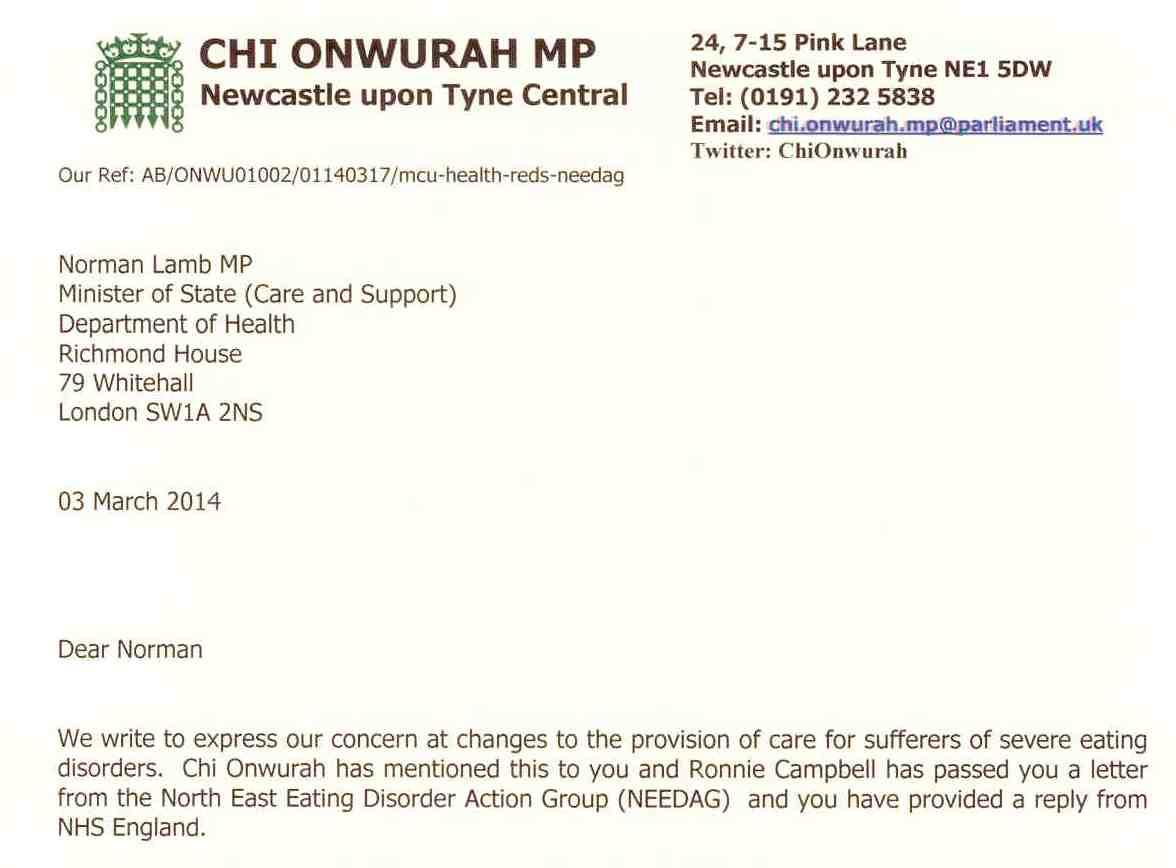 Local MPs back eating disorder unit at RVI