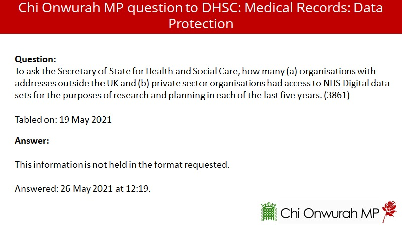 Which private companies and non-UK orgs have had access to our NHS data