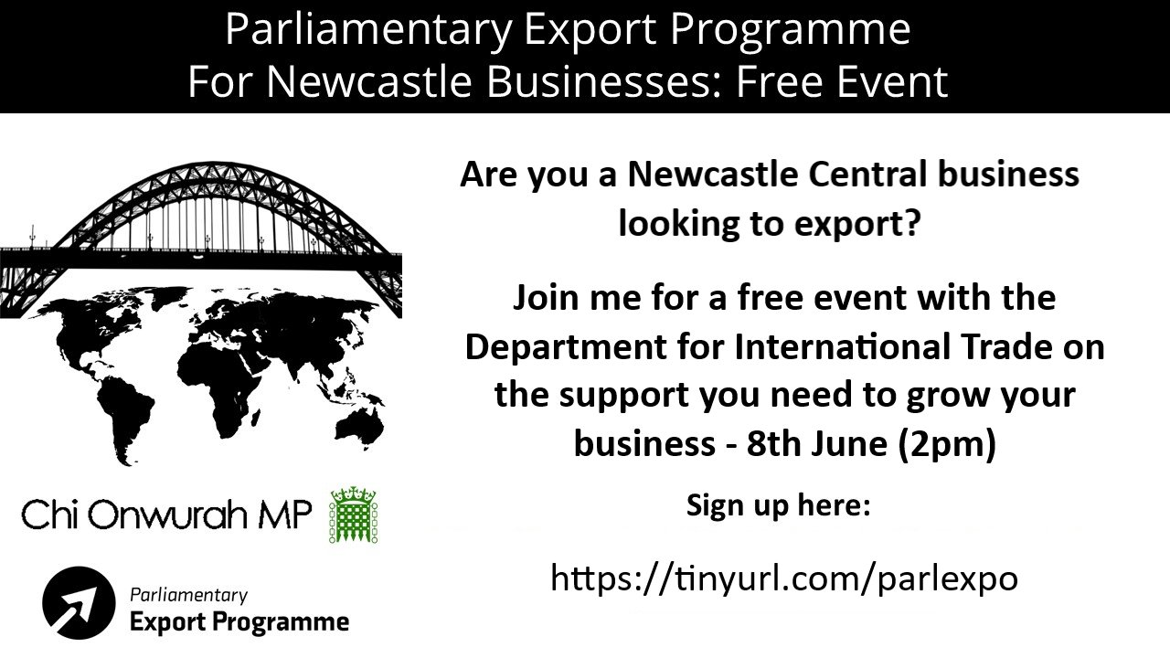 Newcastle Central Businesses Export Free Event