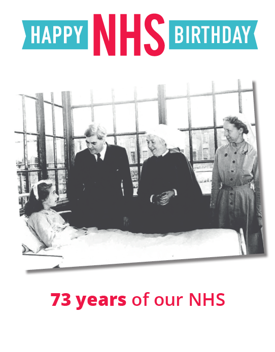 On the 73rd #NHSBirthday I pay tribute to #NHS staff