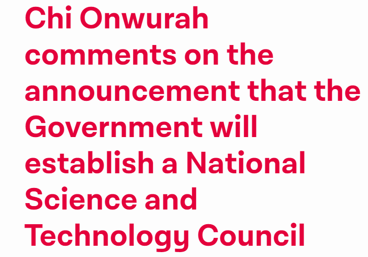 The Government has no long-term plan for UK science