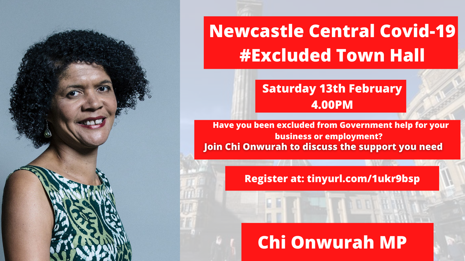 Newcastle Central Covid-19 #Excluded Town Hall