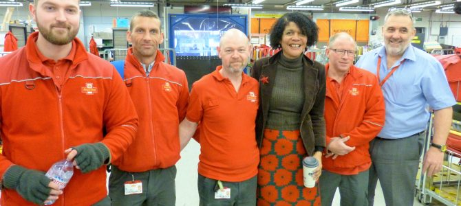 It was great to visit the Royal Mail sorting office on Forth Street