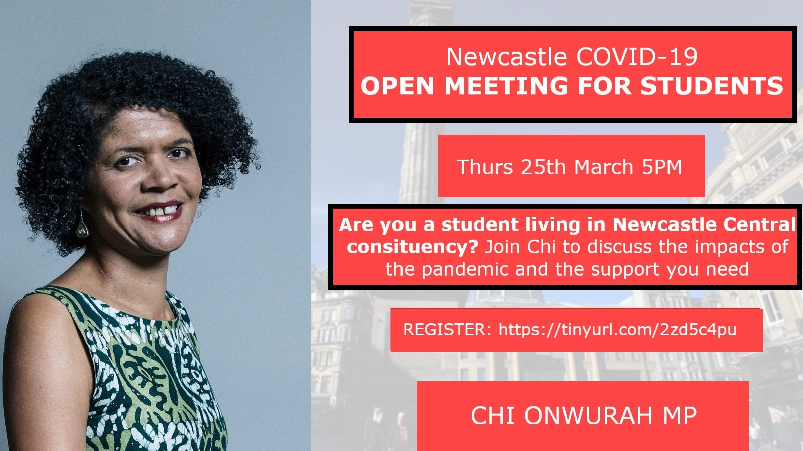 Open Meeting for any Students in Newcastle Central