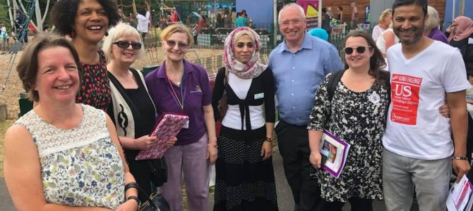 Community diversity event at Nuns Moor Park