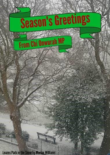 Seasons Greetings from Chi Onwurah MP